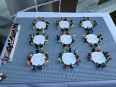 A brilliant wedding table plan made using personalised lego figures!