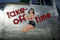 "WWII Bomber Nose Art ""Take-Off Time"""