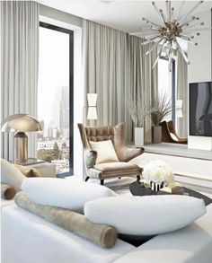 Here are some doable living room decor and interior design tips that will make your home cozy and comfortable for family and friends. Chic Living Room, Interior Design Living Room, Living Room Designs, Living Room Decor, Living Rooms, House Rooms, Living Area, Living Spaces, Decor Interior Design