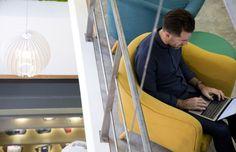 Office Design | Ward Robinson | Interior Design | Clerkenwell | London | TH_NK | Breakout | Office Refurbishment | Agile Working | Smart Working | Flexible | Work space | Colleagues | Seating | Comfort | Design | Collaboration | Colleagues | Design | Co-working