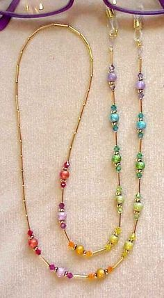 Swarovski RAINBOW CRYSTAL Eyeglass Chain Holder Silver por spec2d                                                                                                                                                     Más