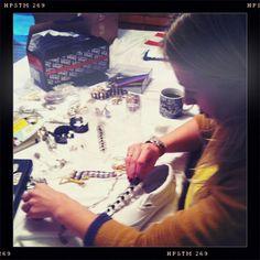 Cher getting crafty.