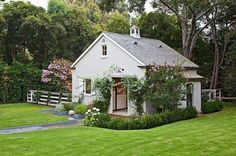 Lovely landscaping and barn