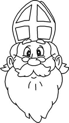 sint kleurplaat peuters - Google zoeken Chrismas Crafts For Kids, Santa Pictures, Letter A Crafts, Saint Nicholas, Art Plastique, Hobbies And Crafts, Holidays And Events, Coloring Pages, Saints