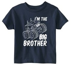 Lil Shirts Big Brother Monster Truck Youth and Toddler Shirt