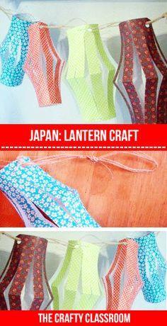 Japanese Art for Children- make mini lanterns and twine to string