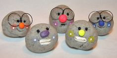 NERDY PET ROCK - Polymer Clay Pet Rock Figurine with Glasses or Braces by @KatersAcres