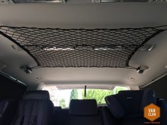 hacks for bus drivers - number create additional storage space in the VW Multivan . Ikea hacks for bus drivers - number create additional storage space in the VW Multivan with a roof net T5 California, Minivan Camping, Trailers Camping, Truck Camping, Vw T5, Bus Vw, Bus Camper, Outdoor Camping, Tent Camping