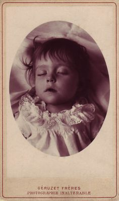 A stunning carbon print carte-de-visite in beautiful condition. The photographer is Géruzet Frères of Brussels.    An Inked inscription in French on the back in a fine period hand translates as 'Souvenir of our dear little Marthe, raised to our most lively affection the 23 March 86, Hector and Mathilde'