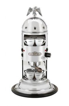 Caffè Italia Professional Coffee Machines: Elektra A1C MINI VERTICAL CHROME 2012 Ed., Elektra Coffee Machines Home line, k-elektra