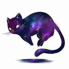 This is a gallery quality giclee art print on archive Dies ist ein Giclée-Kunstdruck in Galeriequalität auf Archivpapier aus …. This is a gallery quality giclee art print on archival paper … - Art Galaxie, Aesthetic Galaxy, Art Mignon, Galaxy Cat, Art Anime, Inspiration Art, Space Cat, Kawaii Drawings, Warrior Cats