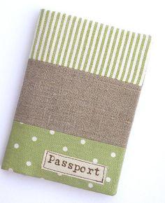 passport holder green