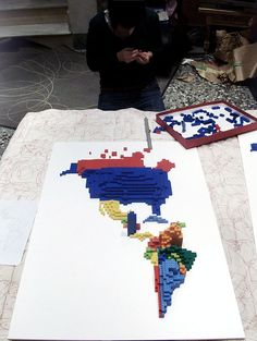 3D Infographic Maps Built with Lego - information aesthetics