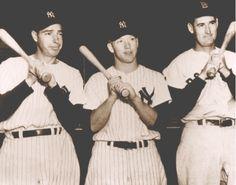 Joe DiMaggio, Mickey Mantle, Ted Williams