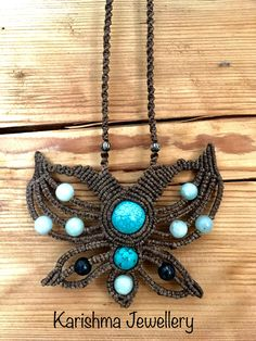 Turquoise and aventurine butterfly