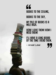 I sooooooo need to learn how to balance books on my head!  I could free up my arms to carry even more books.
