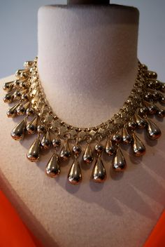 Vintage 1960s Fabulous Gold Toned Bauble Necklace by xtabayvintage, $78.00