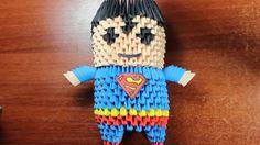 Superman Origami 3D TUTORIAL!