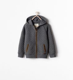 Image 1 of QUILTED SWEATSHIRT from Zara