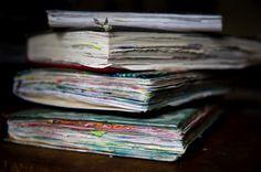Helen Lehndorf's journals. (Photograph Copyright Murray Wilson).