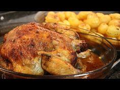 (88) Frango Assado no Forno com Molho de Laranja e Cerveja | Com Batatas - YouTube Dinner Recipes, Turkey, Peru, Youtube, Foods, Oven Roasted Chicken, Potatoes, Sauces, Whole Chickens
