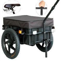 Veelar Bicycle Cargo Trailer & Hand Wagon Shopping/Utility Trailer 70 Liter Capacity- $110 135lb