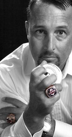 Tim Wakefield, his Red Sox World Series Championship Ring, and his devastating knuckleball.