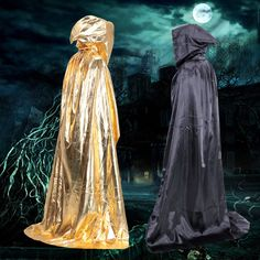 Halloween Solid Color Cape Cloak Wizard Vampire Cosplay Shawl Wear