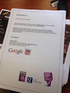 A fantastic endorsement from Google for the guys over @MunkeyDigital #digitalmunkey