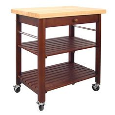 Catskill Craftsmen 80027 Roll-About Kitchen Cart