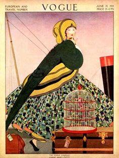 ⍌ Vintage Vogue ⍌ art and illustration for vogue magazine covers - June 1914