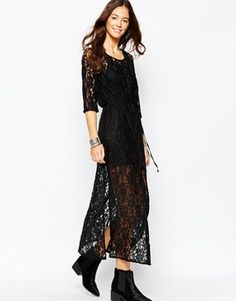 Goldie Karley Maxi Dress In Floral Lace