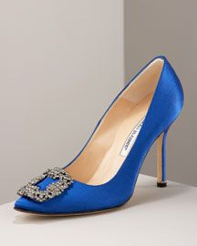 'Something Blue' by Manolo Blahnik as seen in Sex and the City the Movie.......my wedding shoe.