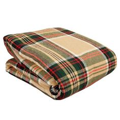 Faribault Woolen Mill Royal Carefree Stewart Plaid Wool