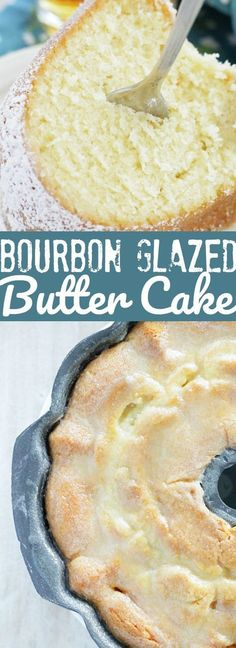 Bourbon Glazed Kentucky Butter Cake is a decadent cake that takes just minutes to get into the oven. This is an impressive cake with very little effort. Frosting Recipes, Cake Recipes, Dessert Recipes, Dessert Ideas, Bunt Cakes, Cupcake Cakes, Cupcakes, Food Cakes, Just Desserts