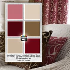 Here's a sneak peek at one of the new color themes, many more colors to choose from. Find a color theme that inspires you: www.Color911.com #color #design