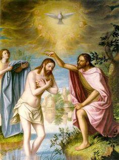 Bautismo de Cristo realizado por Juan Sánchez Cotán para la Cartuja de Granada. España