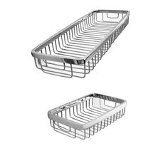 Klaxon Wire Front Shelf-Basket 7*4 CP And 14*4 CP (Set of 1)