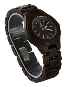 Ideashop® Dark Brown Sandalwood Bracelet Wristwatches Wood Resistent Quartz Analogue Watch Natural Sandalwood Japan Quartz Wrist Watches for Woman Ladies. Each watch uniquely made by hand of solid Sandalwood. Made from high quality natural sandalwood. Vintage eco-friendly natural sandalwood watch with a classic wooden strap. The watch has a light fragrant smell of sandal wood, which can soothe the nerves and make you feel relaxed. Adjustable to fit most wrists. Becomes better with time…
