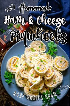 Ham and Cheese Pinwheels are an easy to make appetizer. This cold party appetizer is made using tortilla wraps, cream cheese and hot sauce. Here is how to make Ham and Cheese Pinwheels Recipe. Cold Party Appetizers, Easy To Make Appetizers, Pinwheel Appetizers, Pinwheel Recipes, Appetizer Recipes, Dinner Recipes, Ham Recipes, Cooking Recipes, Homemade Ham