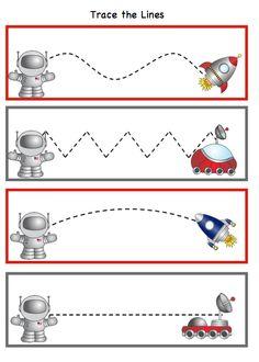 Preschool Printables: Space – Katie @ Gift of Curiosity – Join the world of pin Space Theme Preschool, Space Activities, Preschool Science, Preschool Lessons, Preschool Classroom, Preschool Learning, Planets Preschool, Science Education, Physical Education