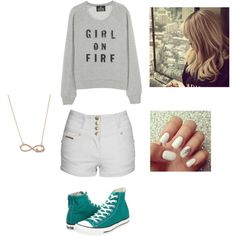 Girl on fire, created by lello-love on Polyvore