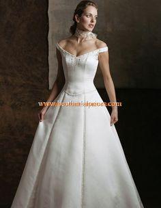 2013 Elegante Brautkleider aus Satin A-Linie mit kurz Schlepppe online