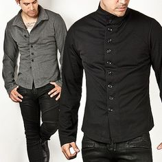 Outerwear :: Hip & Stylish Chinese Collar Jacket - 50 - New and Stylish - Fast Mens Fashion - Mens Clothing - Product