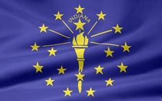 Picture of the Indiana state flag.