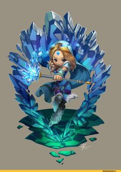 #Dota2 Dota,фэндомы,Rylai the Crystal Maiden,Dota Art,Agustinus,песочница