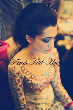 Farah Talib Aziz Bridal Couture. Behind the scenes. #brides