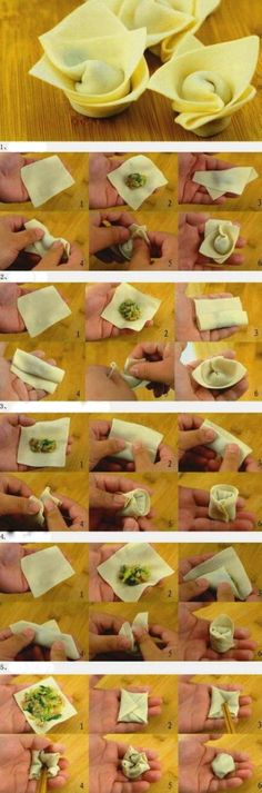 Do You Like Chinese wontons (dumpling soup)? This is a 5 ways how to make wonton. Try it @ home very easy! :-)