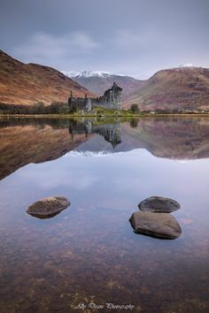 Loch Awe, Kilchurn Castle & Knoydart Mountains, Argyll, Scotland