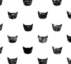 Black cat pattern | Leah Reena Goren on Society6